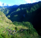 View of the rugged Batad valley and its rice terraces