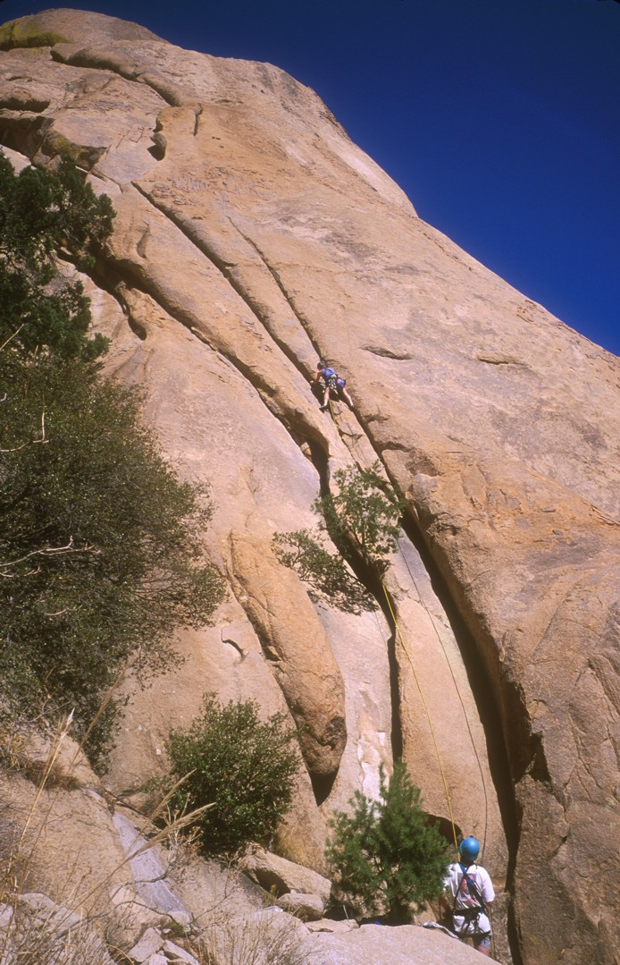 Dennis leads the 5.8 cracks on the first pitch of Moby Dick