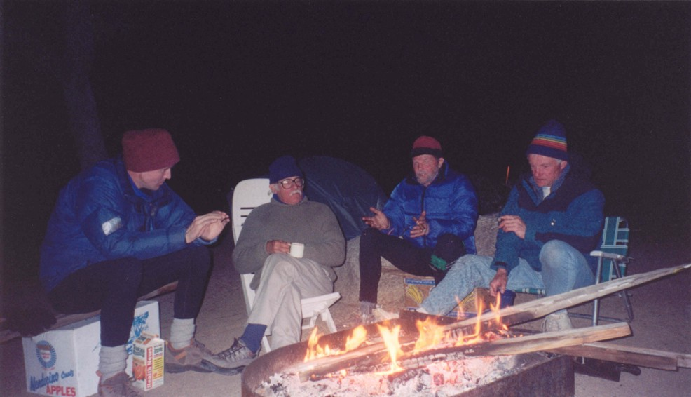 Hanging out at the campfire in Ryan