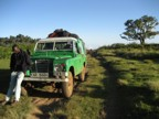 Our super cool 4WD vehicle that took us to the park gate (plus the driver)
