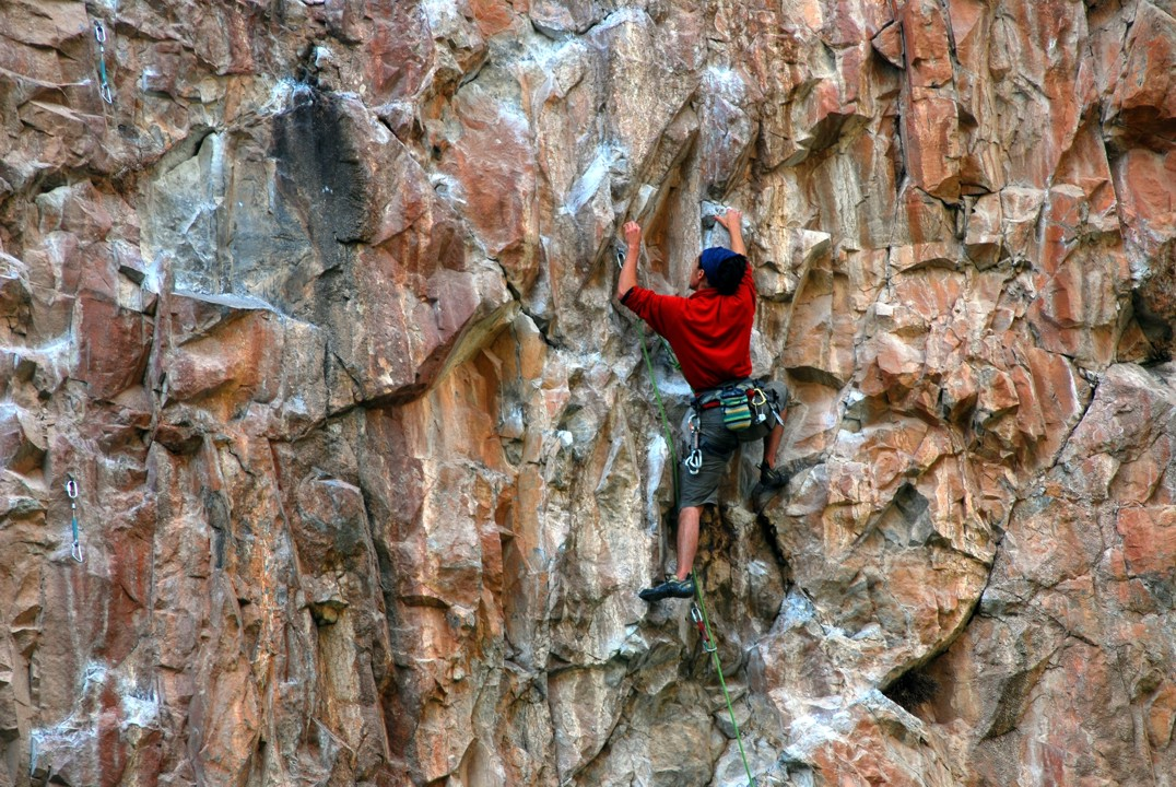Angular holds characterize this route, and just about every other route at Rifle