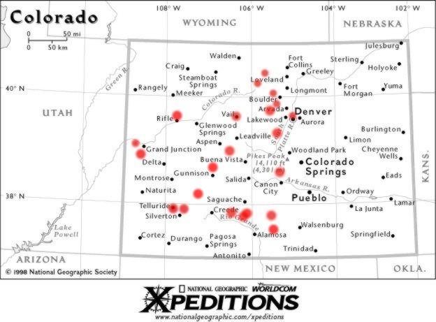 Map of Colorado, Colorado National Monument