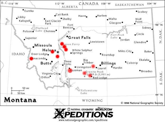 Map Of Montana Columbus - United states map montana