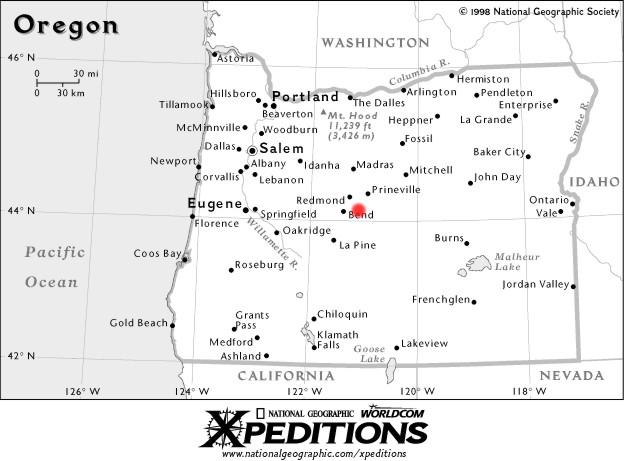 Map of oregon smith rock gumiabroncs Choice Image